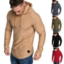 -Men Hoodie Muscle Long Sleeve Bodybuilding Hoody Gym Tops Hooded Coat Jumper on JD