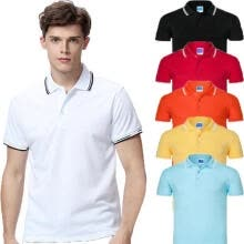-2018 Mens Summer Lapel Short Sleeve Stylish Casual T-Shirts POLO Shirt Tops on JD