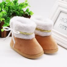 -Spring Winter Baby Boots Soft Plush Ball Booties for Infant girls Anti Slip Snow Boot Winter Keep Warm Cute Crib shoes 2019 on JD