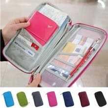 -Hot Wallet Purse Travel Passport Credit ID Card Cash Holder Case Document Bag on JD