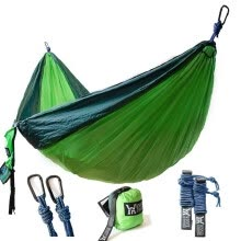 -〖Follure〗New Double Camping Hammock Lightweight Nylon Portable Hammock on JD