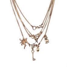 -Angel English letter multi-layer short necklace on JD
