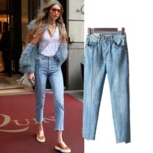 -Jean Pants Women Cotton Solid Sexy Vintage 2019 New Europe America Style Trousers for Ladies Plus Size XXL on JD