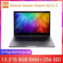 -Global Version Xiaomi Mi Laptop Air 13.3inch 1920x1080 FHD 8GB RAM 256GB SSD Quad-Core Intel i5 8250U GeForce MX150 DDR4 Fingerpri on JD