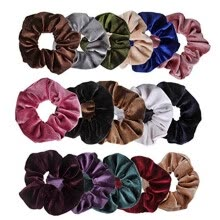 -16 Pcs Velvet Elastic Hair Bands Scrunchy For Women Or Girls Hair Accessories on JD