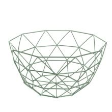 -Modern Geometric Wire Basket Fruit Storage Bowl Tableware Display Rack Holder on JD