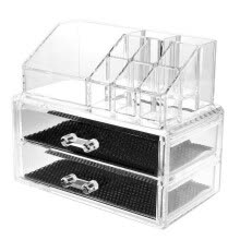 -Clear Acrylic Cosmetic Makeup Organizer 2 Layer Storage Organizer on JD
