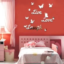 -Live Laugh Love Quote Removable Wall Art Stickers Mirror Decal DIY Room Decor D on JD