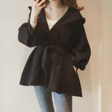 -Brand Korea Style Waist Belt Loose Khaki Trench Spring Autumn Women Fashion Female Casual Elegant Soft Long Coat Cloth on JD
