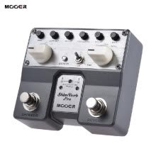 -MOOER ShimVerb Pro Digital Reverb Guitar Effect Pedal with Shimmer Effect 5 Reverberation Modes Twin Footswitch on JD
