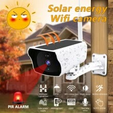 -Solar Energy Charging WiFi IP Camera Wireless Outdoor Camera  1080P HD Security Surveillance CCTV Camcorder on JD