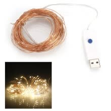-10M 100 LEDs Waterproof USB Copper Wire Christmas Decoration String Light Garden Courtyard String Li on JD