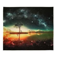 -Warm Starry Sky Scenery Digital Printing Wall Polyester Tapestry Living Room Decoration Home Decor on JD