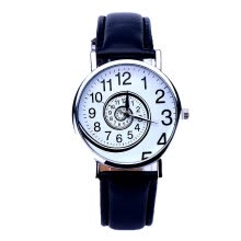 -【MIARHB】Women Swirl Pattern Leather Analog Quartz Wrist Watch BK ( watch for women ) on JD