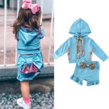 -US Toddler Baby Girl Clothes Sweatshirt Top Pants Infant Outfits Sets Tracksuit on JD