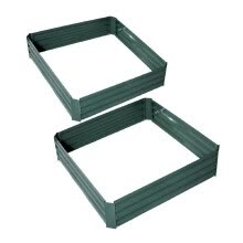 -26' x 26' x 12' Galvanized Metal Raised Garden Bed Set of 2 - Green on JD