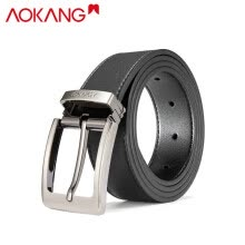 -Aokang official flagship store men's leather belt casual youth men's pants with pin buckle men's belt 8931502005 black black 125 on JD