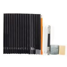 -30pcs Sketch Tool Kits Cutter Eraser Drawing Set Pencils Charcoal Extender Paper Pen on JD