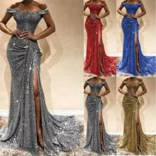 -Women Formal Wedding Bridesmaid Evening Party Ball Prom Gown Long Cocktail Dress on JD