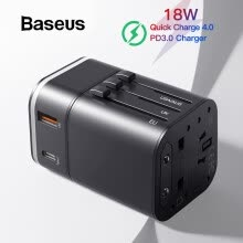 -Baseus All in one 18W Qi Charging USB Charger Portable Travel EU/US/UK PD 3.0 Fast Charging for Phone Ipad Mac Book on JD