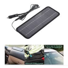 -12V 4.5W Portable Power Solar Panel Backup for Car Boat with Alligator Clip Adapter on JD