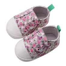 -Newborn Toddler Infant Baby Girls Floral Print Autumn Lace-Up First Walkers Sneakers Shoes on JD