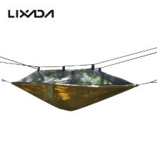 -Lixada Mosquito Net Hammock Extra Strong Nylon Durable Compact Lightweight Outdoor Camping Traveling Hammock for One Person on JD