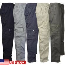 -Mens Tactical Hiking Belted Cargo Pants Skinny Slim Fit 7 Pockets Pants Trousers on JD