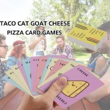 -Taco Cat Goat Cheese Pizza Card Games 10 Minutes Fast Table Card Games 3-8 Players Popular Party Card Games on JD