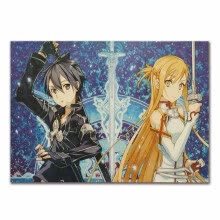 -SAO Sword Art Online Anime Poster Vintage Kraft Paper Poster Bar Cafe Decorative Painting 5136cm Anime Fans Gifts on JD
