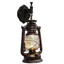 -E27 Retro Antique Vintage Rustic Lantern Lamp Wall Sconce Light Fixture Outdoor on JD