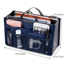 -Fashion Travel Insert Handbag Tote Makeup Organizer Purse Cosmetic Pouch on JD