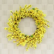 -Artificial Flower Leaf Wreath Wall Window Door Hanging Home Wedding Decoration on JD