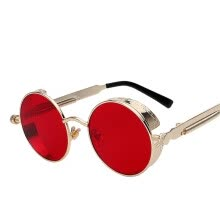 -Round Metal Sunglasses Steampunk Men Women Fashion Glasses Brand Designer Retro Vintage Sunglasses UV400 on JD