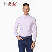 -INTERIGHT DP100 clothing free hot vertical stripes business casual men shirt red bar 39 yards on JD