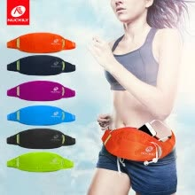 8750504-NUCKILY Water Resistant Nylon Waist Pouch for Running Cycling Outdoor Sport on JD