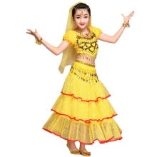 23599ef65c1 2017 Indian Children Belly Dance Costumes Stage Performance Belly Dance