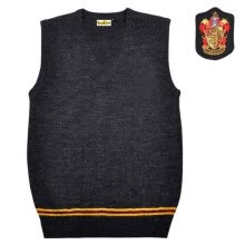 -Knitted Vest Sweater Gryffinder House Uniform Unisex V-neck Vest Cosplay Costume on JD