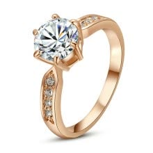 875062457-Yoursfs® 18K Rose Gold Plated 1.4Ct Simulated Diamond Classical Promise Ring Use Austrian Crystal Fashion Jewelry on JD