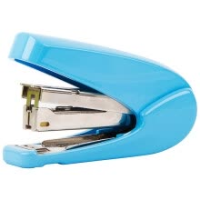 -(Deli) 0429 fashionable color-type power-saving stapler can be set 20 (12 # nail type) blue on JD