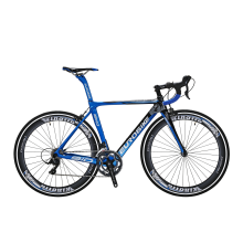 8750504-EUROBIKE 700C Road Bike Carbon Fiber Frame Shimano R3000 18 Speed racing Bicycle 50cm Blue on JD