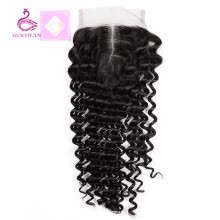 -Silkswan Remy Hair Lace Closure 4x4 inch Malaysian Deep Wave 100% Human Hair 8''-18'' Free Part Style Free Shipping on JD