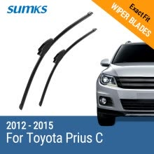 -SUMKS Wiper Blades for Toyota Prius C 26'&15' Fit Hook Arms 2012 2013 2014 2015 on JD