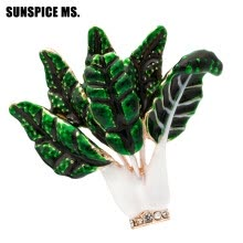 -Cute Green Leaves Vegetables Brooches For Women Fashion Corsage Men Kids Clothes Accessories Enamel Suit Scarf Shoulder Clip Pin on JD