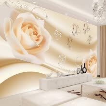 -Modern Simple Yellow Flowers Pearl Photo Wallpaper Murals Living Room Backdrop Wall Paper Home Decor Papel De Parede 3D Paisagem on JD