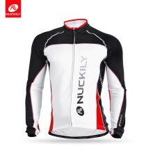 -NUCKILY Winter Men's Black & Red Bike Wear Thermal Fleece Cycling Jersey For Cyclist MI003 on JD