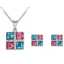 875062454-Fashion Jewelry Sets Square Crystal from Austrian High Quality Pendants Necklaces Earrings For Women Accessories on JD
