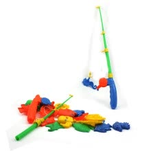 -Vanker Baby Kid Magnetic Double Fishing Rod + 20 Fish Model Pretend Play Fun Toy Gift on JD