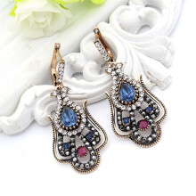 Furniture Luxury Turkey Style Big Long Pendant Earrings For Women Color Ancient Gold Crystal Earrings Vintage Jewelry Modern And Elegant In Fashion