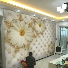 -Custom Wall Mural European Style Painting Living Room Wallpaper Wall Covering Paper on JD